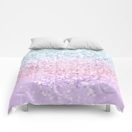 Unicorn Girls Glitter #4 (2019 Version) #shiny #pastel #decor #art #society6 Comforters