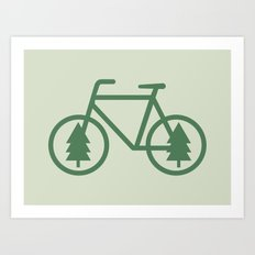Pacific Northwest Cycling - Bike, Bicycle, Portland, PDX, Seattle, Washington, Oregon, Portlandia Art Print