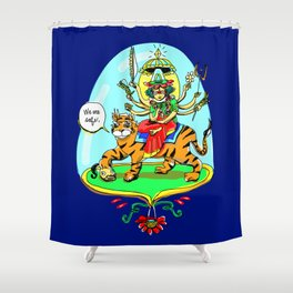 Durga Hindu Goddess Shower Curtain