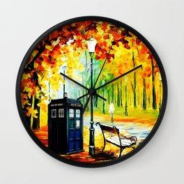 Tardis Art Waiting Somebody Wall Clock