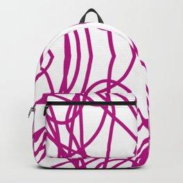 Pink Scribble Backpack
