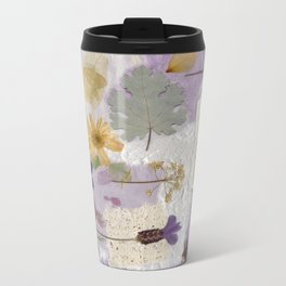 Lavender Collage Metal Travel Mug