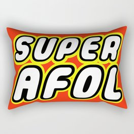 SUPER AFOL in Brick Font Logo Design by Chillee Wilson Rectangular Pillow