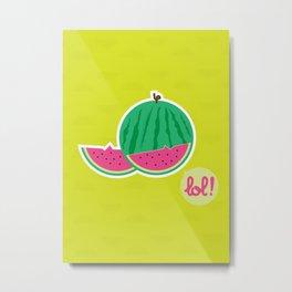 Watermelon - CosmoLOL!icious Metal Print
