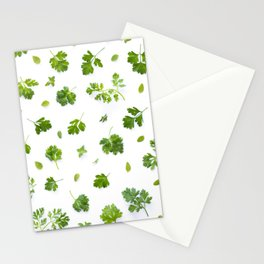 Herbs on White - Portrait Stationery Cards