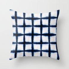 Shibori Squares Throw Pillow