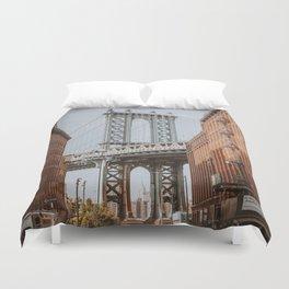 New York City X / Brooklyn Bridge Duvet Cover