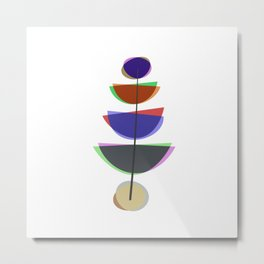 Mid Century Uno - Abstract Pastel Art Metal Print