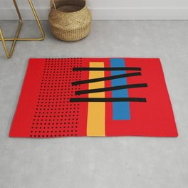 Abstract Geometric Minimal Net and Stairway Rug