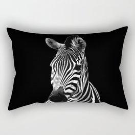 Zebra Black Rectangular Pillow