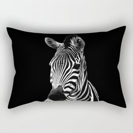 Zebra Black Rectangular Pillow
