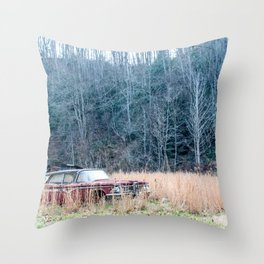 Left to Rust Throw Pillow