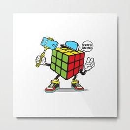 Funny Cube game Metal Print