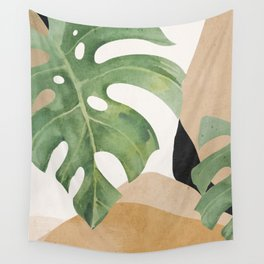 Abstract Art Tropical Leaves 3 Wall Tapestry