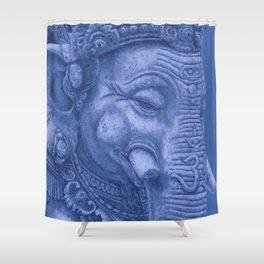 Ganesha blue Shower Curtain