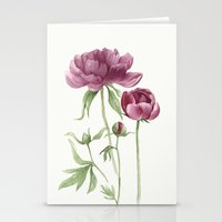 peony Stationery Cards featuring peony by Dao Linh