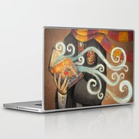 marauders Laptop & iPad Skins featuring Books magic by nokeek
