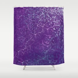 Electric Waves Shower Curtain