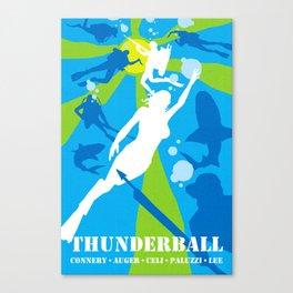 James Bond Golden Era Series :: Thunderball Canvas Print