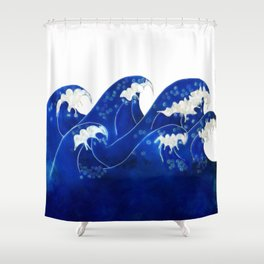 Waves with no sky Shower Curtain