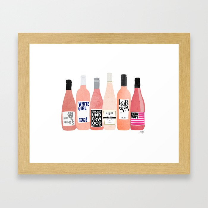 Rose Bottles Gerahmter Kunstdruck