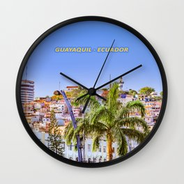 Santa Ana Hill, Guayaquil Poster Print Wall Clock