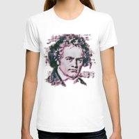 beethoven T-shirts featuring Beethoven by Zandonai