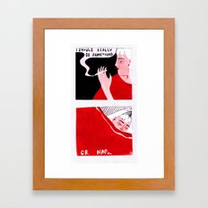 I Should Really Do Something (Or Nap) Framed Art Print