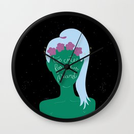 Alien Girl 2 Wall Clock