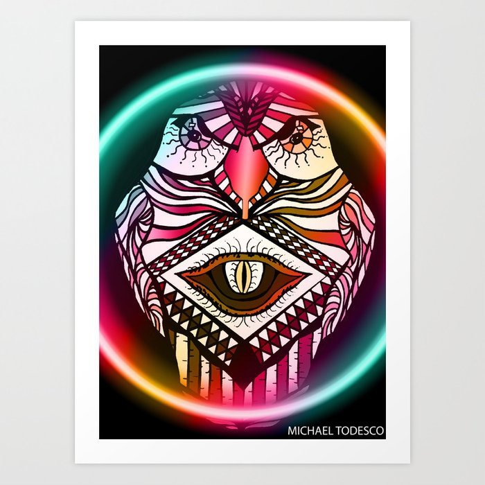 Night Hawk Art Print
