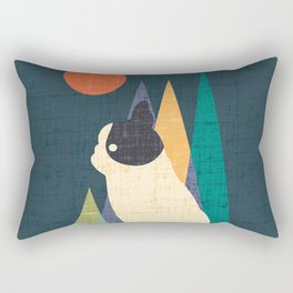 Waiting for You French Bulldog Rectangular Pillow