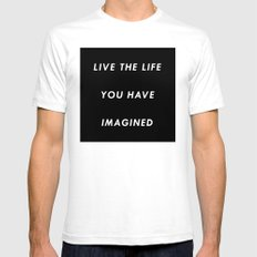 The Life You Have Imagined  White MEDIUM Mens Fitted Tee