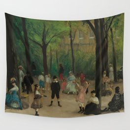 Luxembourg Gardens Oil Painting by William James Glackens Wall Tapestry