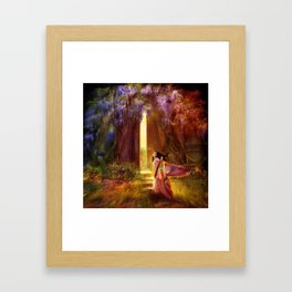 A Knock At The Door Framed Art Print