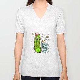 Kawaii Pickles! 3 Unisex V-Neck