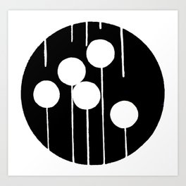 Circle Sticks Art Print