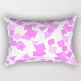 Festive Pink Confetti Rectangular Pillow