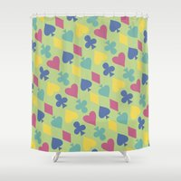 suits Shower Curtains featuring Suits by M. Noelle Studios