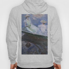 1887-Claude Monet-On the Boat-133 x 145 Hoody