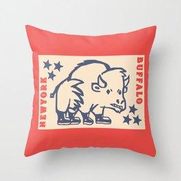 BUFFALO PAR Throw Pillow