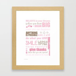 Quote Collage Framed Art Print