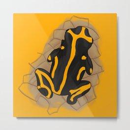 yellow-banded poison dart frog Metal Print