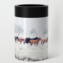 Winter Horse Herd Can Cooler