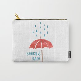 Books and Rain Carry-All Pouch