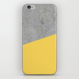 Concrete and Primrose Yellow Color iPhone Skin