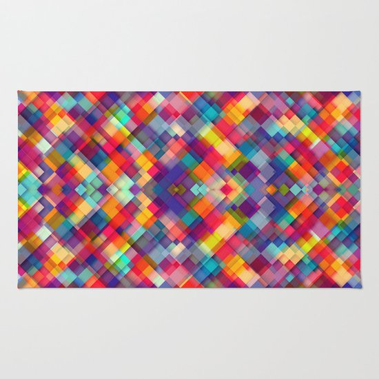 Squares Everywhere Rug