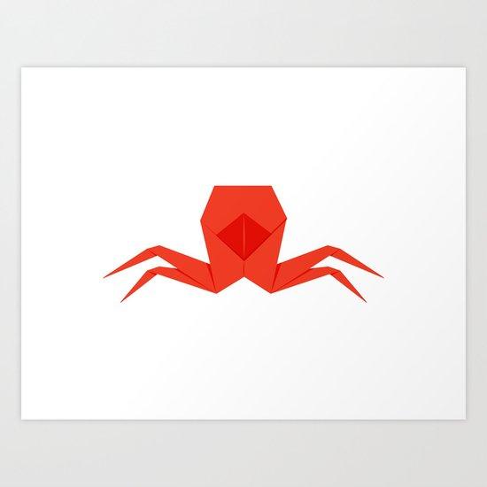 Origami Crab Art Print