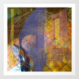 Bauhaus Dangly Bits Art Print