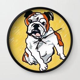 Bulldog Portrait Wall Clock