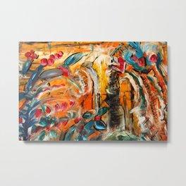 Colorful Flowerman Art by Pearse Gilmore Metal Print